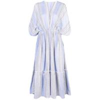 Lemlem Vestido Com Decote Profundo 'amira' - Azul