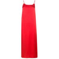 Uma Wang Vestido Longo 'cami' - Vermelho