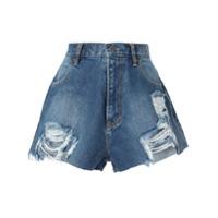 Pony Stone Short Jeans - Azul