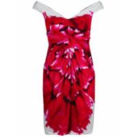 Moschino Vestido Estampado - Vermelho