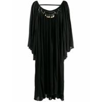 Giacobino Vestido Túnica Com Aplicação - Preto