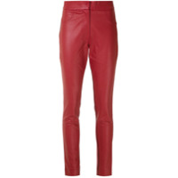 Corporeum Calça Skinny Mix Tecidos - Vermelho