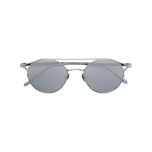 Linda Farrow Óculos de sol redondo - Cinza