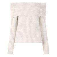Fillity Blusa De Tricô Ombro A Ombro - Branco