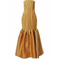 Solace London Vestido Longo Ari - Amarelo