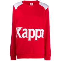 Kappa Blusa De Moletom Com Logo - Vermelho