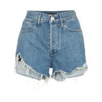 3X1 Short Jeans 'carter' De Cintura Alta - Azul
