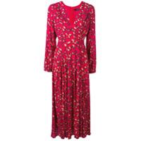 Andamane Vestido Longo Com Estampa Abstrata - Vermelho