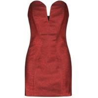 Michael Lo Sordo Vestido Jessica Com Decote Coração - Vermelho