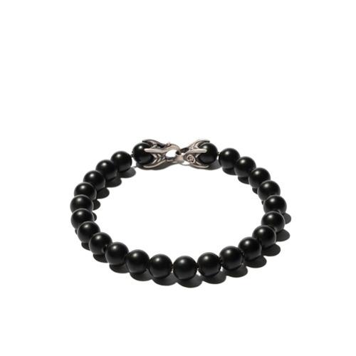 Imagem de David Yurman Pulseira 'Spiritual Beads' de prata com ônix - Ssbbo