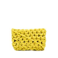 Alienina Bolsa Tiracolo De Tricô - Amarelo