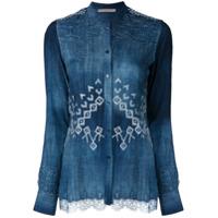 Ermanno Scervino Camisa Estampada - Azul