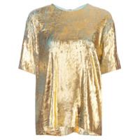 Halpern Camiseta Texturizada - Dourado