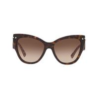 Valentino Eyewear Armação De Óculos Gatinho Degradê - Marrom