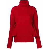 Antonio Berardi Ruffle Sleeve Sweater - Vermelho