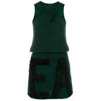 Emporio Armani Vestido De Tricô Com Textura - Verde