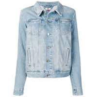 Tommy Jeans Logo Striped Denim Jacket - Azul