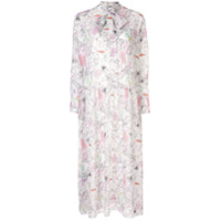 Olivia Rubin Vestido Com Estampa Floral - Branco