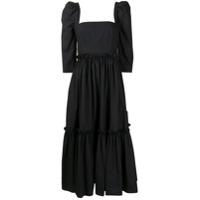 Cara Cara Vestido Franzido Com Amarração - Preto