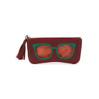 Sarah Chofakian Porta Óculos De Couro - Vermelho