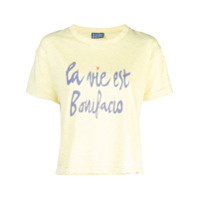 Lhd La Vie Est Bonifacio Print T-Shirt - Amarelo
