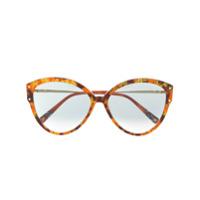 Missoni Eyewear Óculos De Sol Oversized Com Estampa Abstrata - Laranja
