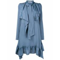 See By Chloé Vestido Com Sobreposição - Azul