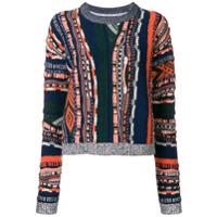 Carven Suéter Com Padronagem - Azul