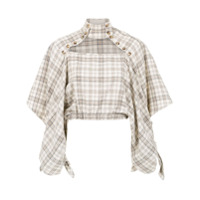 Framed Blusa Cropped 'played' - Neutro