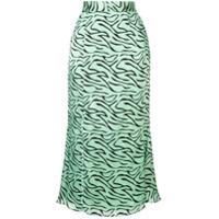 Olivia Rubin Saia Animal Print - Verde
