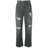 Diesel Black Gold Calça Jeans Boyfriend Destroyed - Cinza