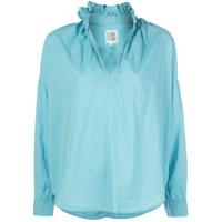 A Shirt Thing Camisa Com Babados Na Gola - Azul