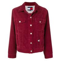 Tommy Jeans Basic Corduroy Jacket - Vermelho