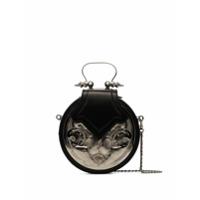 Okhtein Bolsa Transversal Dome Com Pregas - Silver Black
