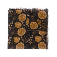 Uma Wang Echarpe Com Estampa Floral - Preto