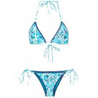 Brigitte Biquíni Modelo Cortininha Estampado - Blue, Navy, White