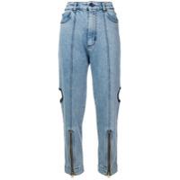 House Of Holland Calça Jeans Utility Com Vazados - Azul