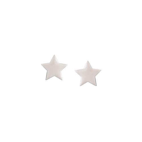 Imagem de Alinka Par de brincos 'Stasia Star' de ouro branco 18k - Metálico