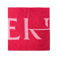 Moncler Cachecol De Tricô Com Logo - Rosa