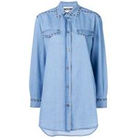 Moschino Camisa Jeans Oversized - Azul