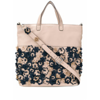 Tosca Blu Perforated Flower Tote - Rosa