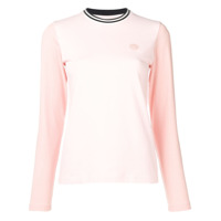 Acne Studios Camiseta Mangas Longas - Rosa