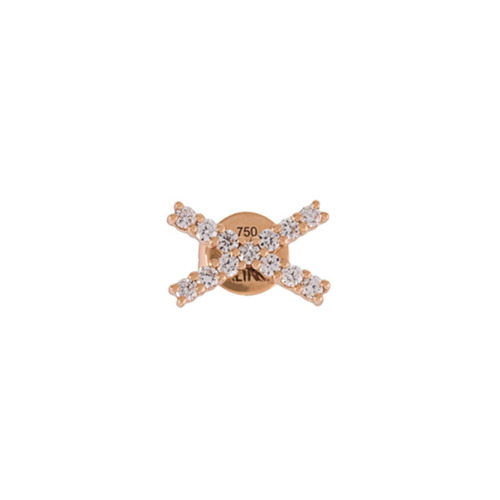 Imagem de Alinka Par de brincos de ouro rosa 18k com diamantes 'KATIA' - Metálico