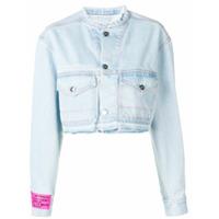Marcelo Burlon County Of Milan Jaqueta Jeans Cropped - Azul
