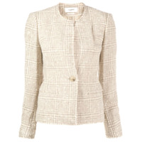 Isabel Marant Étoile Blazer Slim De Tweed - Neutro