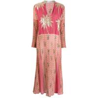 Ailanto Vestido Com Aplicações - Rosa