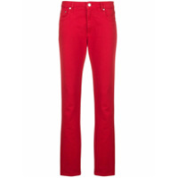 Msgm Calça Jeans Slim - Vermelho