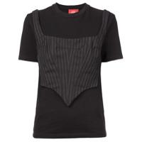 Dilara Findikoglu Camiseta Mangas Curtas - Preto