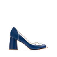 Sarah Chofakian Scarpin Panga De Couro - Azul