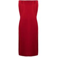 12 Storeez Vestido Ombro A Ombro - Vermelho